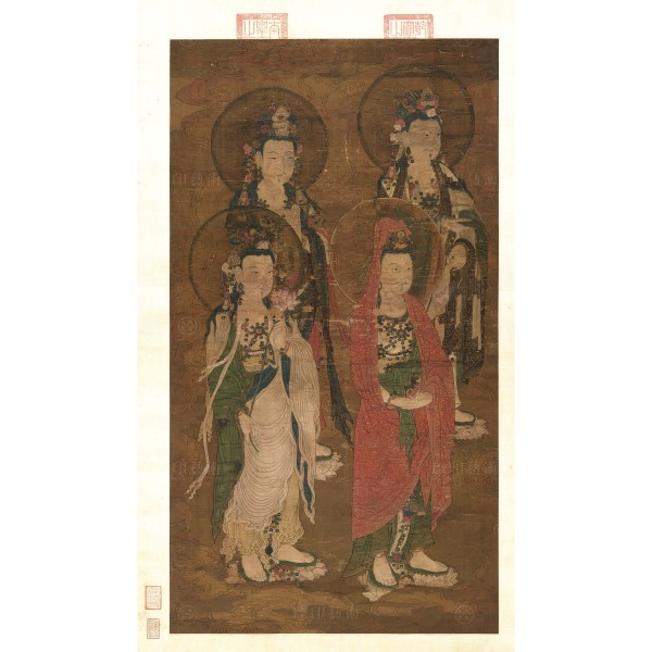 Expounding the Sutra, Yuan Dynasty, Giclée (Left)