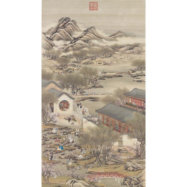 Activities of the Twelve Months (The Third Lunar Month), Court artists, Qing Dynasty, Giclée (L)