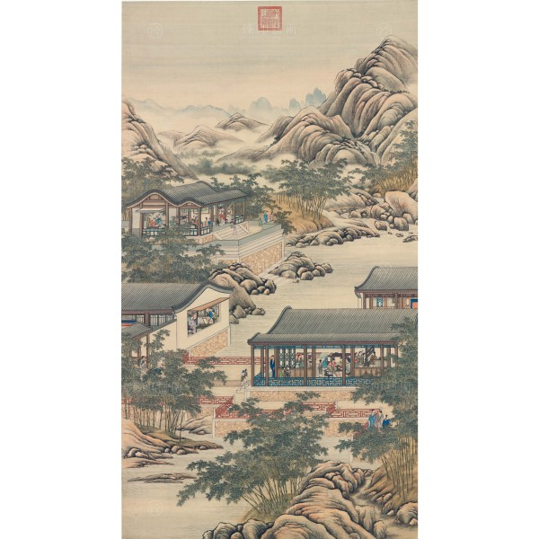 Activities of the Twelve Months (The Tenth Lunar Month), Court artists, Qing Dynasty, Giclée (S)