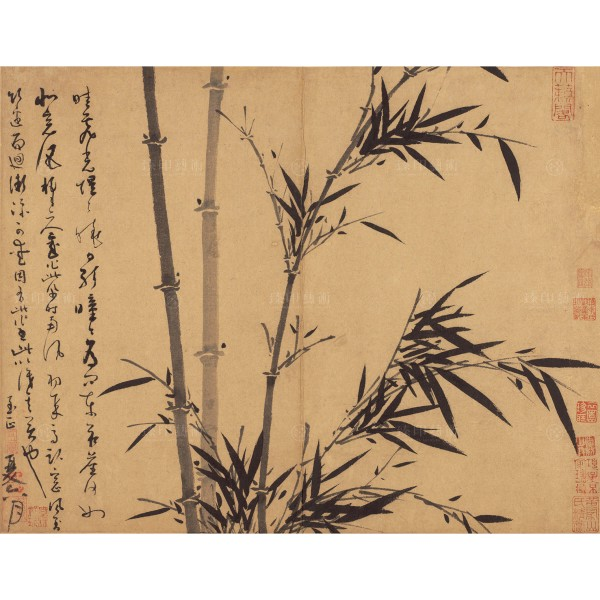 Manual of Ink Bamboo, Day Break After the Rain, Wu Zhen, Yuan dynasty, Giclée
