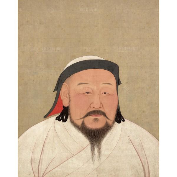 Portrait of Emperor Shizu (Khubilai Khan), Yuan Dynasty, Giclée