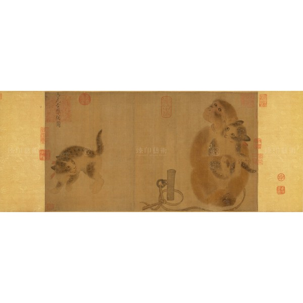Monkey and Cats, I Yuan-chi, Song dynasty, Giclée