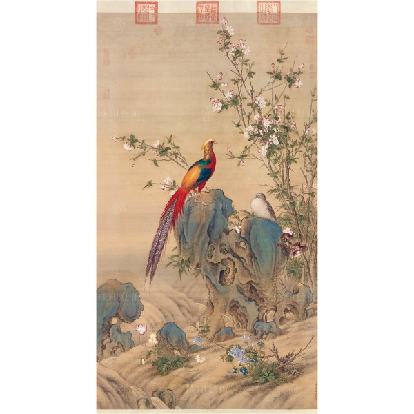 A Brocade of Spring, Giuseppe Castiglione, Qing Dynasty, Giclée (mini)