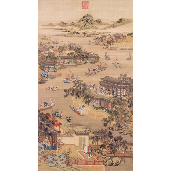 Activities of the Twelve Months (The Fifth Lunar Month), Court artists, Qing Dynasty, Giclée (mini)