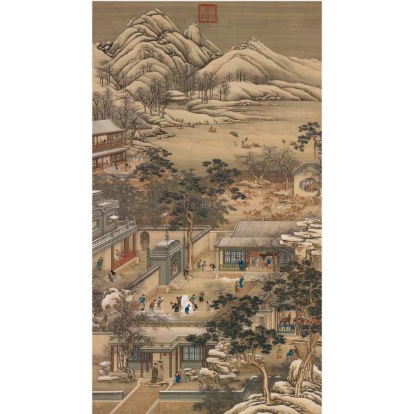 清 畫院 十二月月令圖十二月(mini) 畫心
