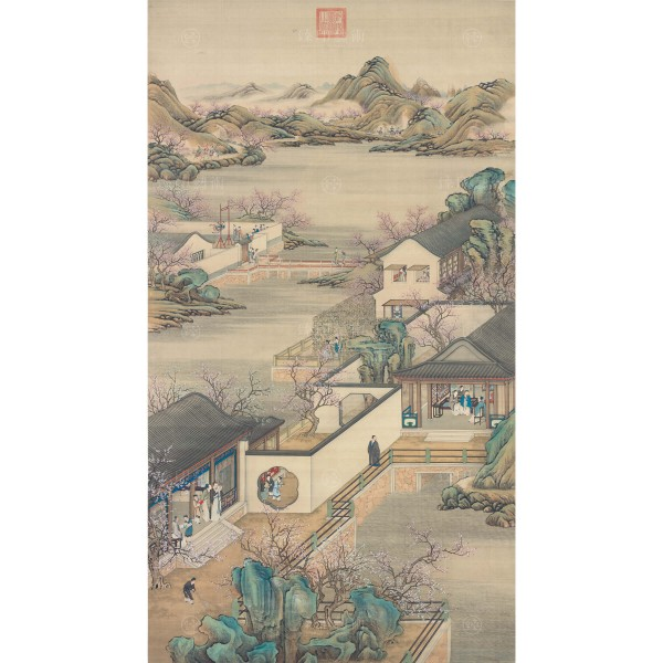 Activities of the Twelve Months (The Second Lunar Month), Court artists, Qing Dynasty, Giclée (mini)