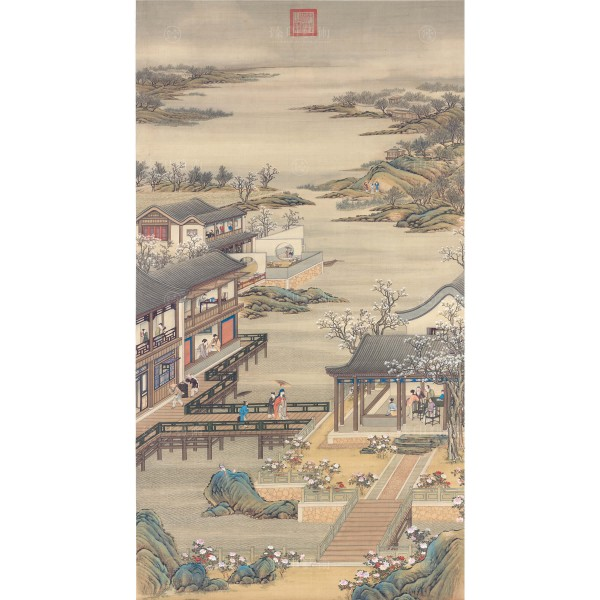 Activities of the Twelve Months (The Fourth Lunar Month), Court artists, Qing Dynasty, Giclée (mini)
