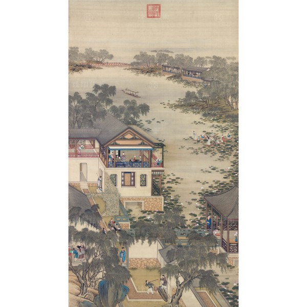 Activities of the Twelve Months (The Sixth Lunar Month), Court artists, Qing Dynasty, Giclée (mini)