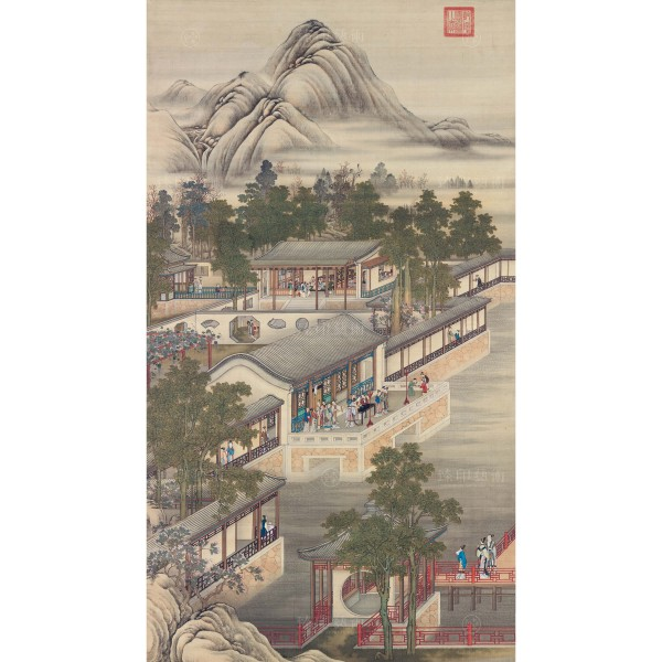 Activities of the Twelve Months (The Seventh Lunar Month), Court artists, Qing Dynasty, Giclée (mini)