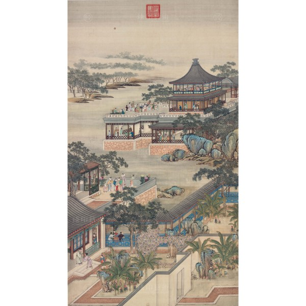 Activities of the Twelve Months (The Eighth Lunar Month), Court artists, Qing Dynasty, Giclée (mini)