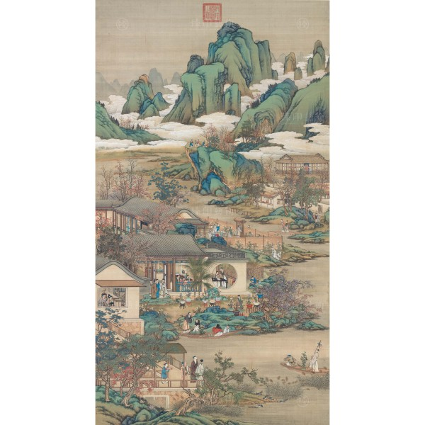 Activities of the Twelve Months (The Ninth Lunar Month), Court artists, Qing Dynasty, Giclée (mini)