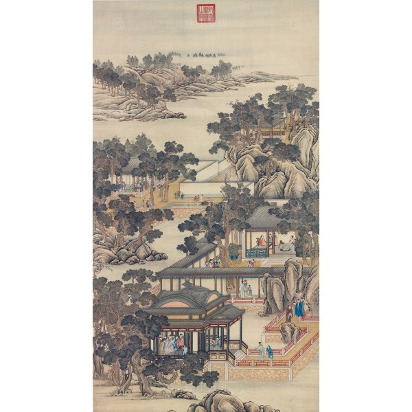 Activities of the Twelve Months (The Eleventh Lunar Month), Court artists, Qing Dynasty, Giclée (mini)