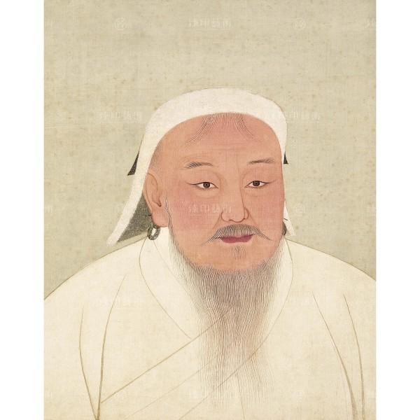 Portrait of Emperor Taitsu (Chinggis Khan), Yuan Dynasty, Giclée