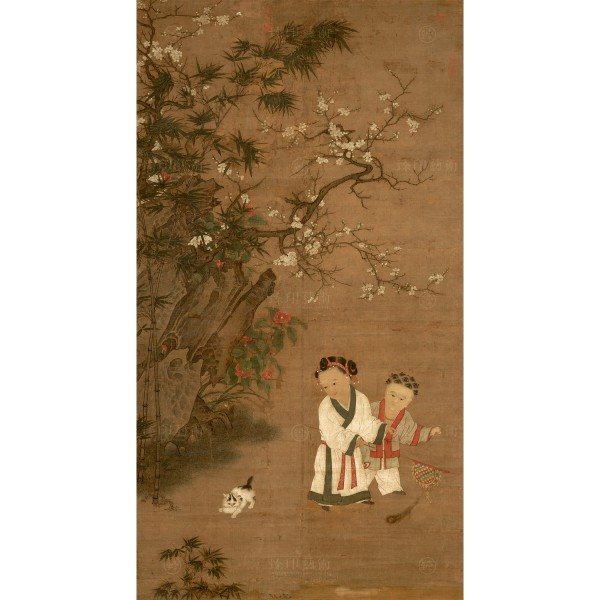 Children at Play on a Winter's Day, Song Dynasty, Giclée (S)