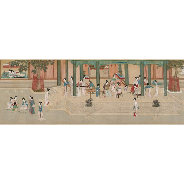 Spring Dawn in the Han Palace, Qiu Ying, Ming Dynasty, Giclée (Partial size)