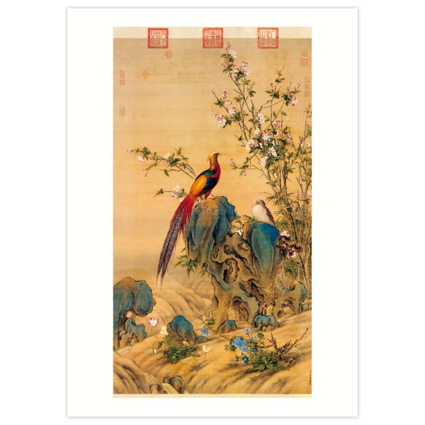 B4 Size, Print Card, A Brocade of Spring, Giuseppe Castiglione, Qing Dynasty