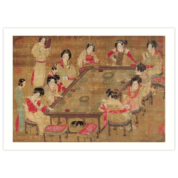 B4 Size, Print Card, A Palace Concert, Tang Dynasty