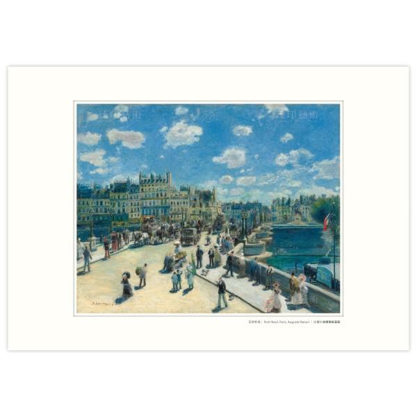 A3 Size, Print Card, Pont Neuf, Paris, Auguste Renoir