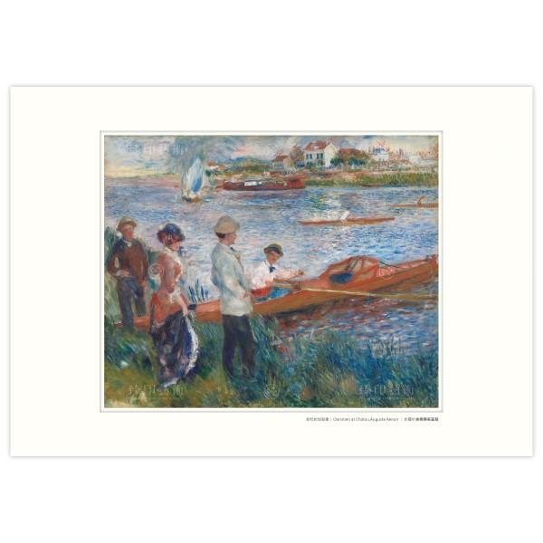A3 Size, Print Card, Oarsmen at Chatou, Auguste Renoir