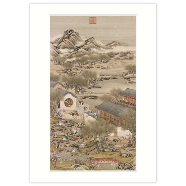 A4 Size, Print Card, Activities of the Twelve Months (The Third Lunar Month), Court artists, Qing Dynasty