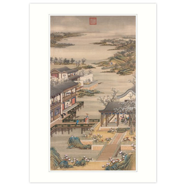 A4 Size, Print Card, Activities of the Twelve Months (The Fourth Lunar Month), Court artists, Qing Dynasty