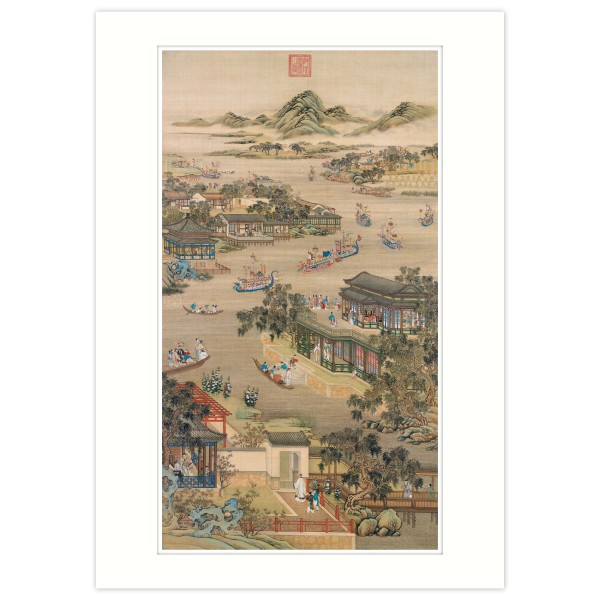 A4 Size, Print Card, Activities of the Twelve Months (The Fifth Lunar Month), Court artists, Qing Dynasty