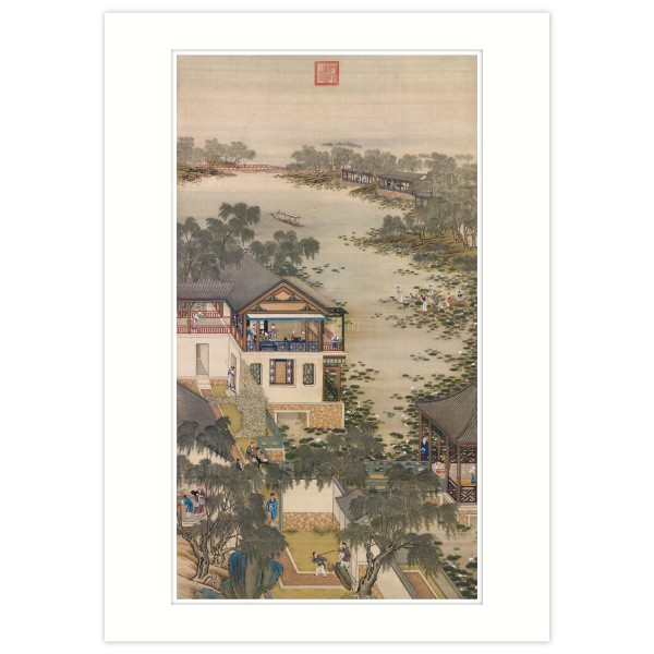 A4 Size, Print Card, Activities of the Twelve Months (The Sixth Lunar Month), Court artists, Qing Dynasty