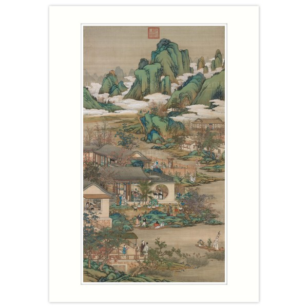 A4 Size, Print Card, Activities of the Twelve Months (The Ninth Lunar Month), Court artists, Qing Dynasty