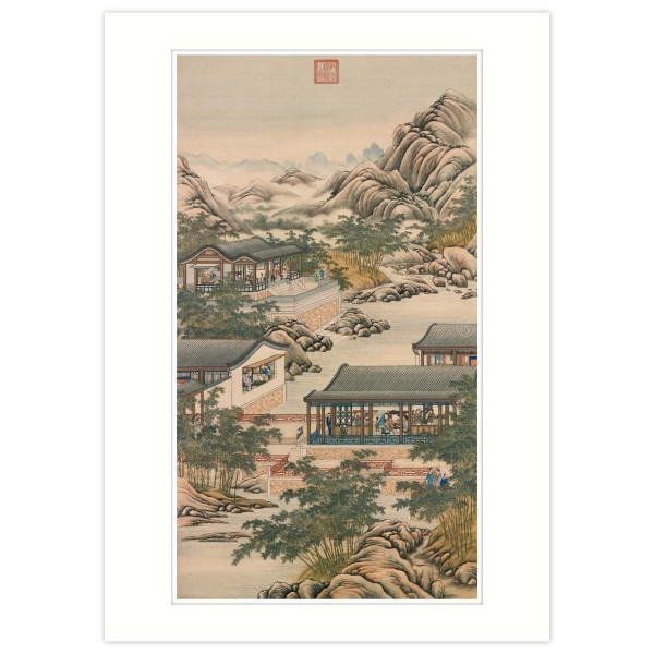 A4 Size, Print Card, Activities of the Twelve Months (The Tenth Lunar Month), Court artists, Qing Dynasty
