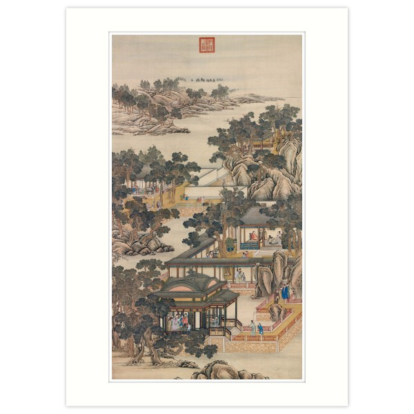 A4 Size, Print Card, Activities of the Twelve Months (The Eleventh Lunar Month), Court artists, Qing Dynasty