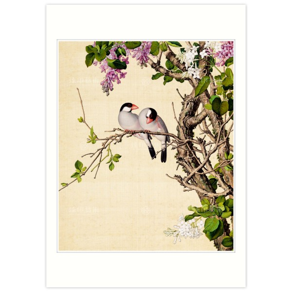 B4 Size, Print Card, Lilac, Immortal Blossoms in an Everlasting Spring, Immortal Blossoms in an Everlasting Spring, Giuseppe Castiglione, Qing Dynasty