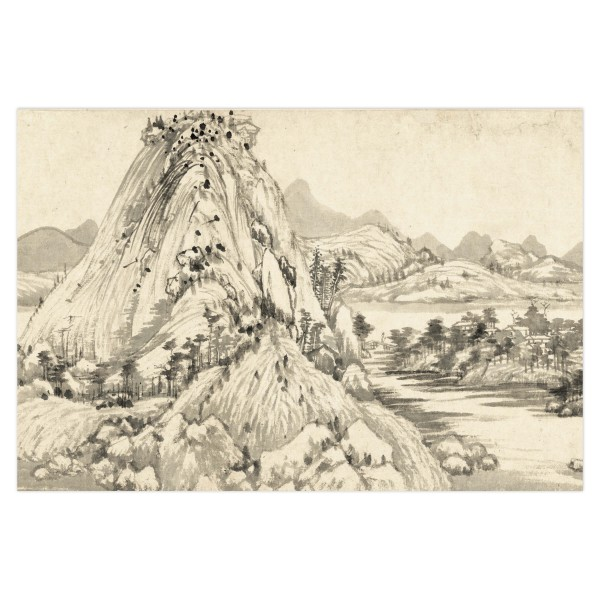 Postcard, Dwelling in the Fu-chun Mountains, Huang Gongwang.Landscape