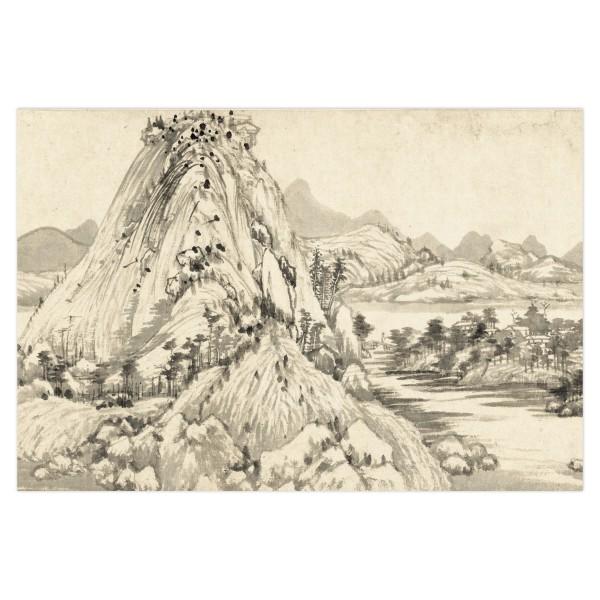 Postcard, Dwelling in the Fu-chun Mountains, Huang Gongwang.Landscape