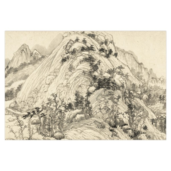 Postcard, Dwelling in the Fu-chun Mountains, Huang Gongwang.Mountains