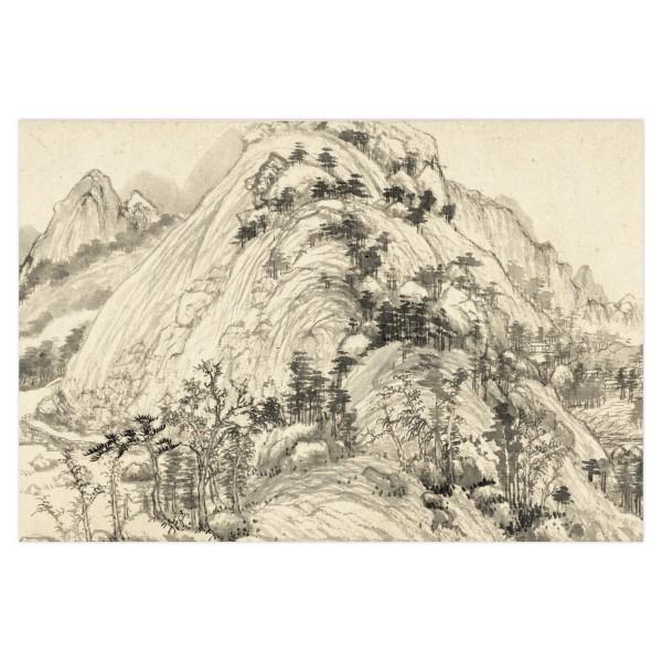 Postcard, Dwelling in the Fu-chun Mountains, Huang Gongwang.Mountains