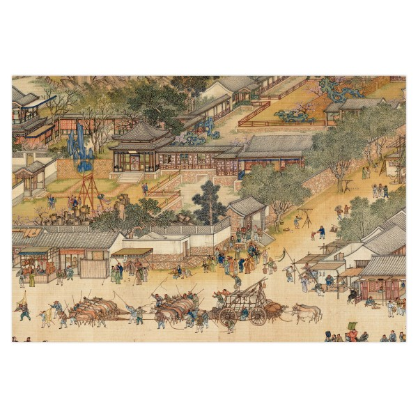 Postcard, Up the River During Qingming, Qing Court painters.Swing