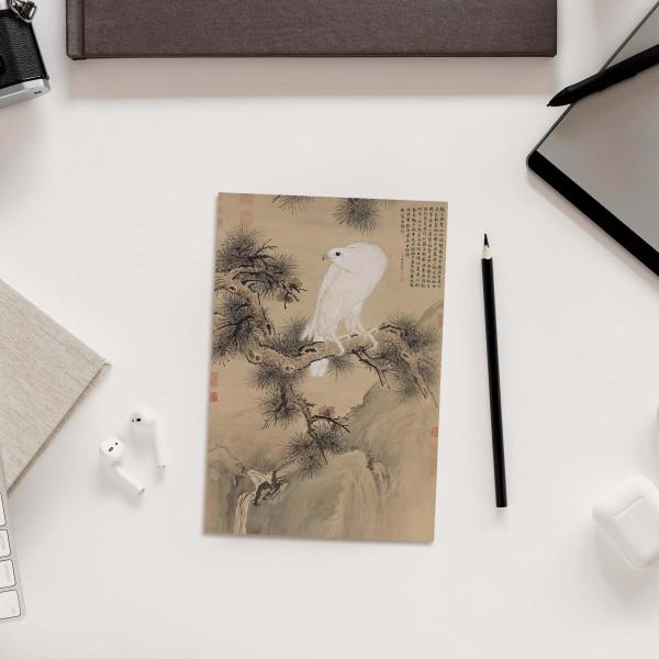 Postcard, White Falcon, Giuseppe Castiglione, Qing Dynasty