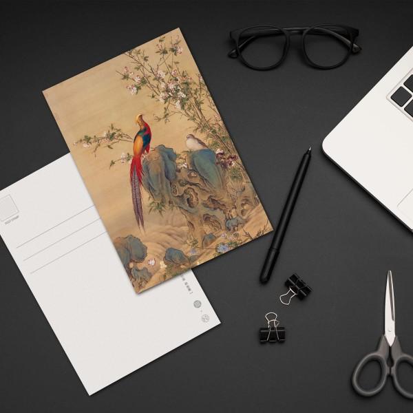 Postcard, A Brocade of Spring, Giuseppe Castiglione, Qing Dynasty