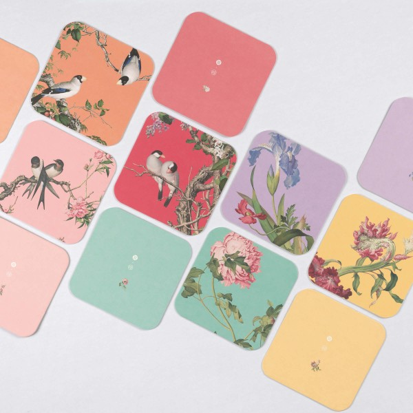 Coaster Variety Pack, Immortal Blossoms in an Everlasting Spring, 6 Pieces for a Set