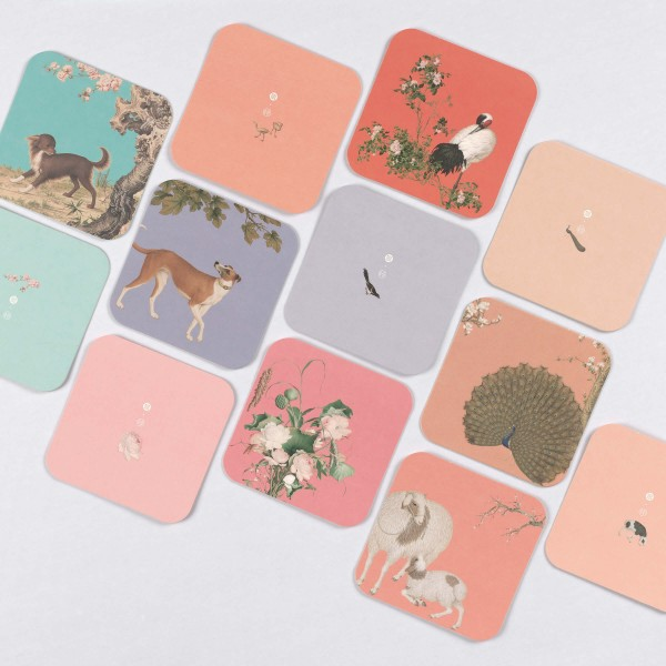 Coaster Variety Pack, Giuseppe Castiglione, 6 Pieces for a Set