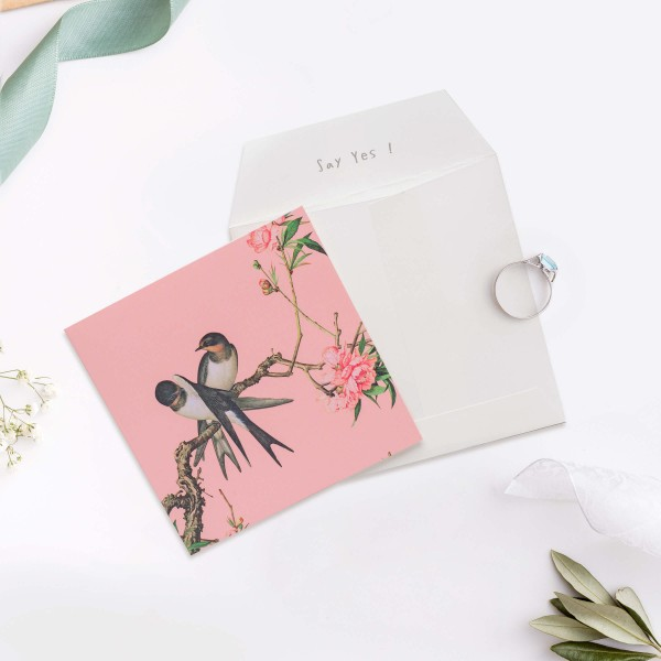 Message Card,  Immortal Blossoms in an Everlasting Spring.Peach Blossom