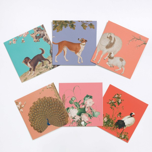 Message Card Variety Pack, Giuseppe Castiglione, 6 Cards for a Set