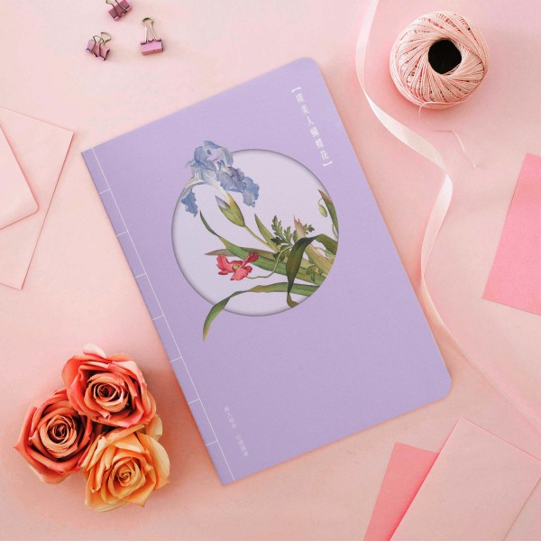 Notebook,  Immortal Blossoms in an Everlasting Spring.Papaver rhoeas and Iris japonica