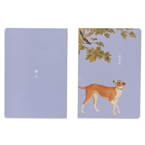 Notebook, Giuseppe Castiglione.Ju-huang-pao of Ten Fine Hounds