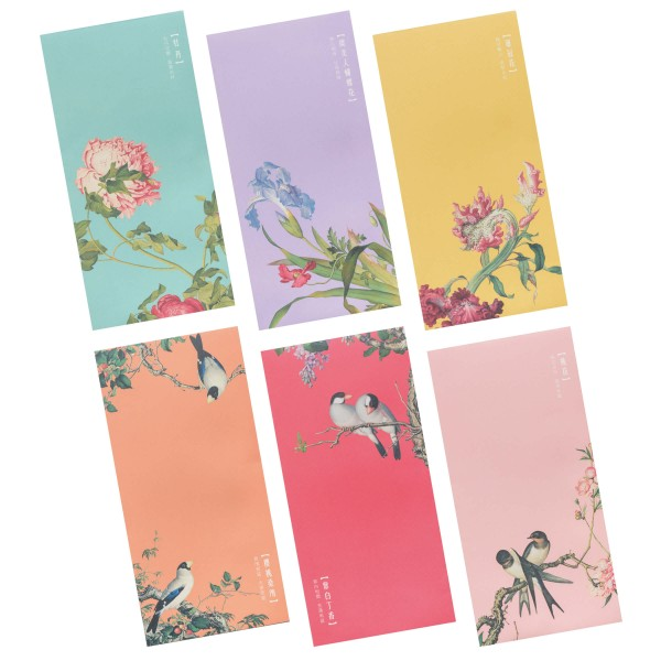 Luck Envelope Variety Pack, Immortal Blossoms in an Everlasting Spring, 6 Envelopes for  a set