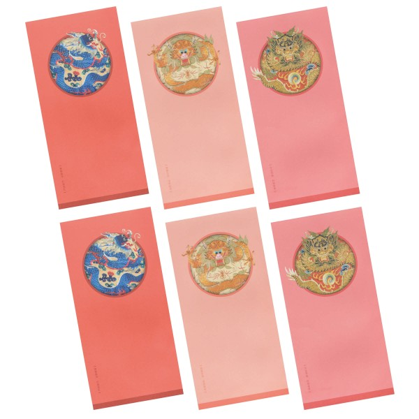 Luck Envelope Variety Pack, Embroidery of Good Fortune, 6 Envelopes for  a Set
