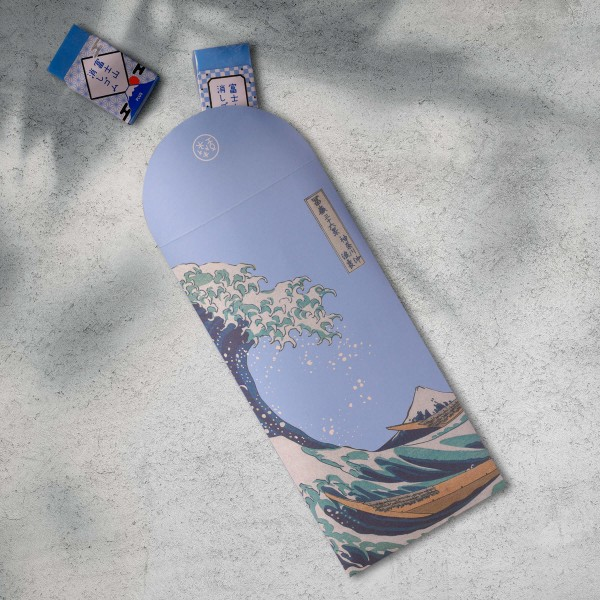 Luck Envelope, The Great Wave of Kanagawa.Water Blue, 6 Envelopes