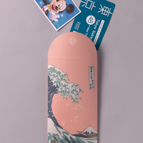 Luck Envelope, The Great Wave of Kanagawa.Peach blossom, 6 Envelopes