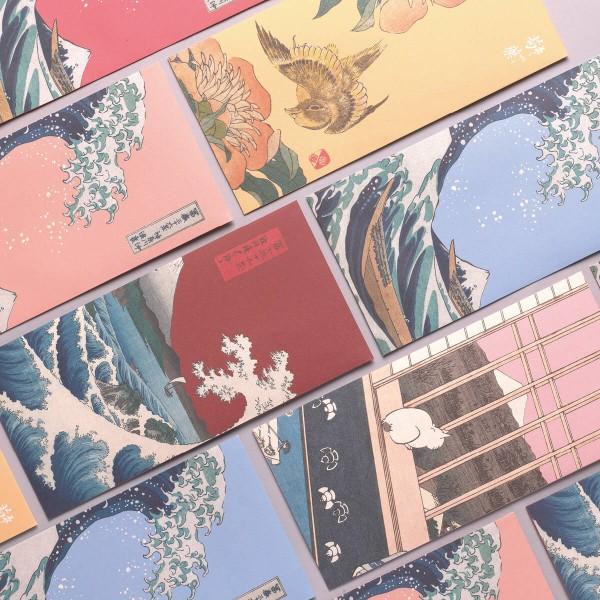 Luck Envelope Variety Pack, Ukiyo-e, 6 Envelopes for  a Set