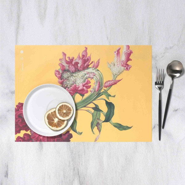 Placemat, Immortal Blossoms in an Everlasting Spring.Celosia Cristata